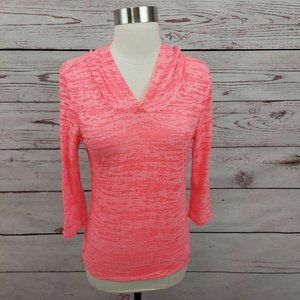 Material Girl Active Open Back Hoodie Pink Small
